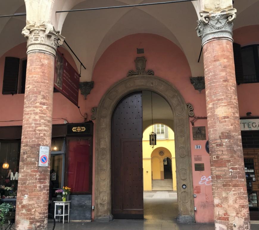 open door italian renaissance arch bologna
