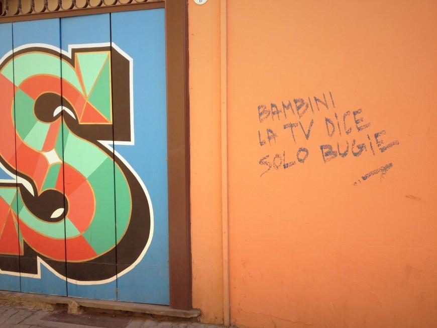 your tv tells you lies bologna graffiti