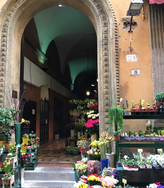 flower market bologna italy quadrilatero
