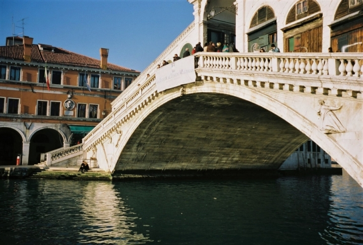 Rialto Bridge Venice Venezia single arch bridge