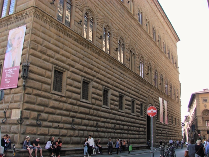Palazzo Strozzi rustication museum florence travel scale
