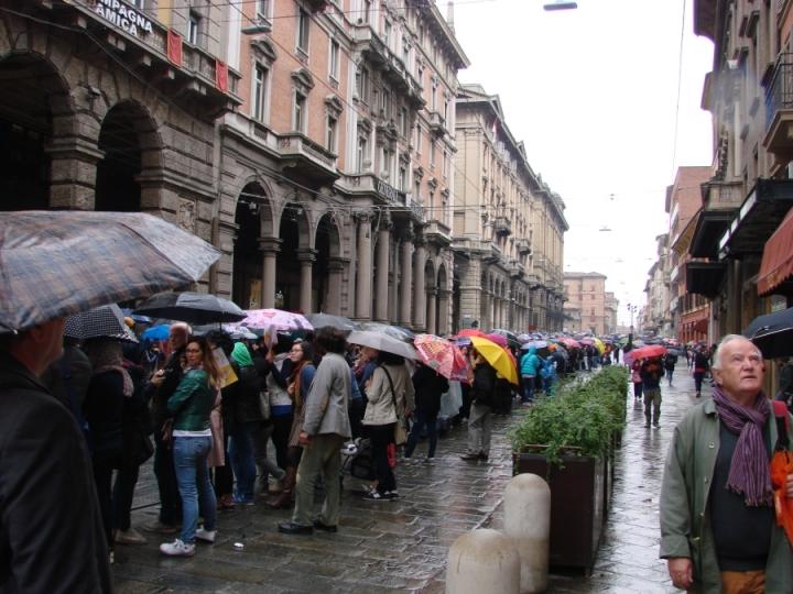 bologna papal visit via rizzoli