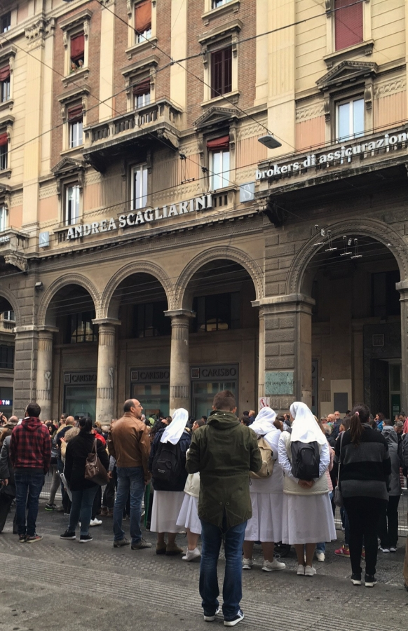 bologna papal visit wittevrouwen white nuns