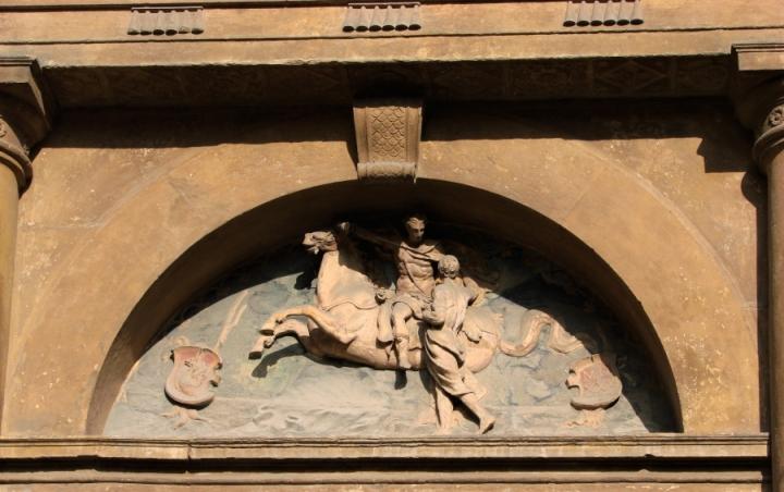 St. Martin San Martino Sint Maarten church bologna sculpture bas relief horse cloak carving religious art