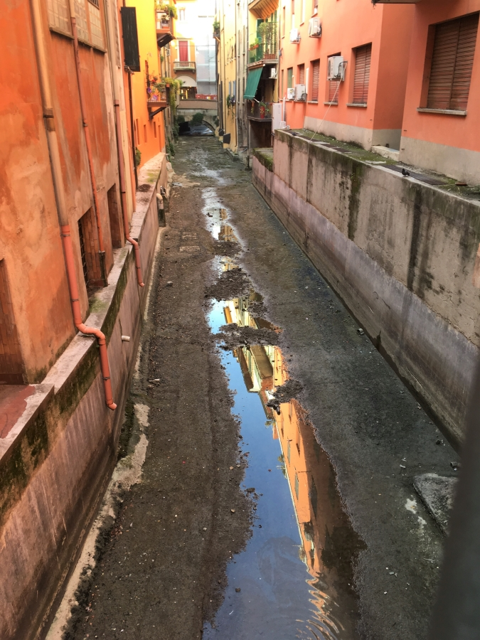 Bologna canals reflection