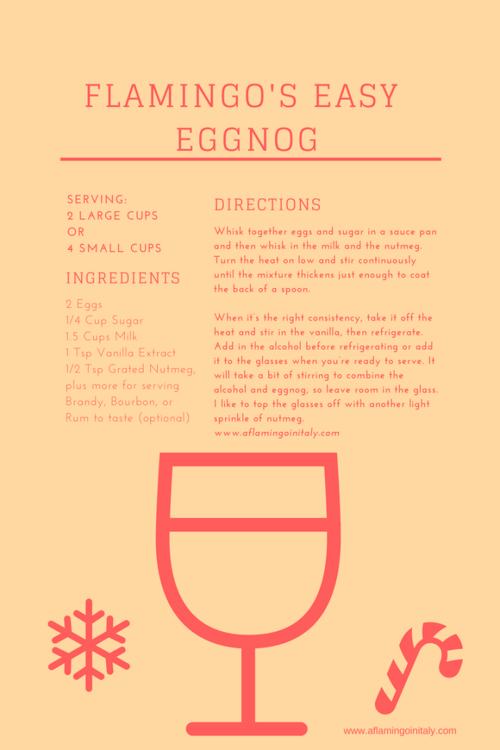 flamingo homemade eggnog recipe expat life
