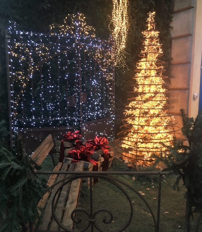 holiday lights bologna italy natale