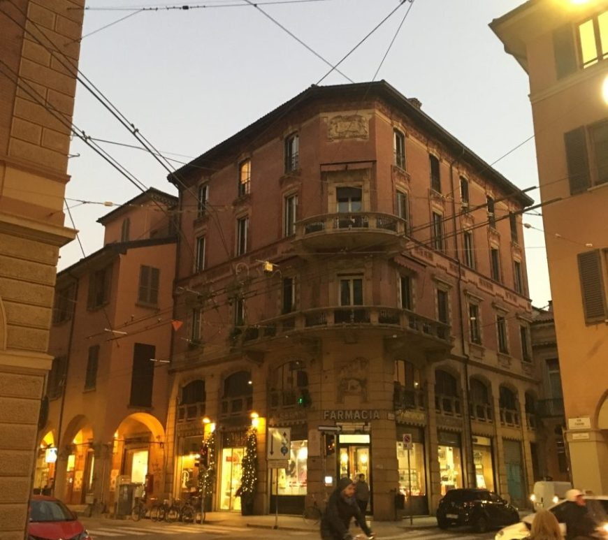 Bologna italy architecture bicycle