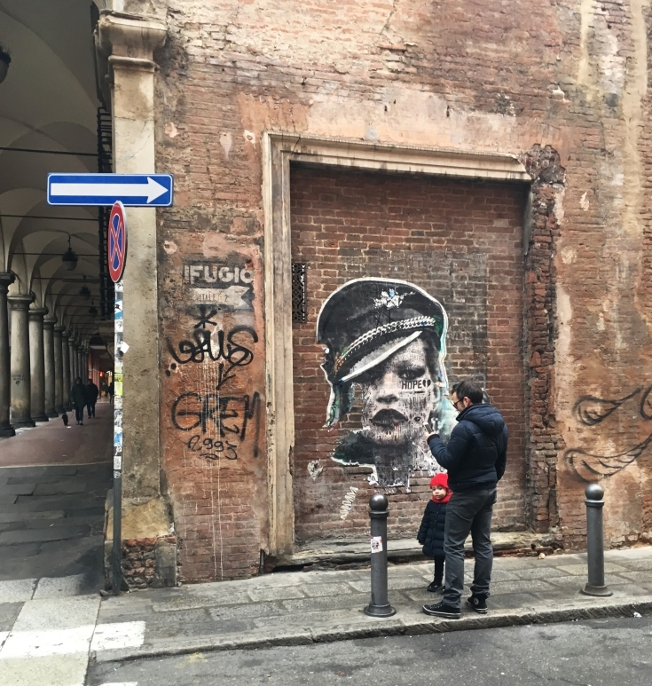 madonna bologna street art women